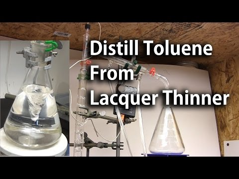 Fractional Distillation of Lacquer Thinner to Obtain Toluene