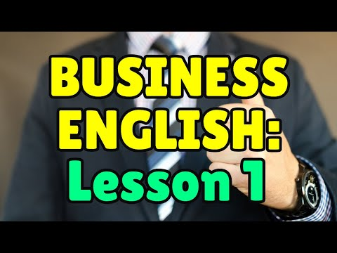 Business English Course - Lesson 1 - Essential Job Vocabulary