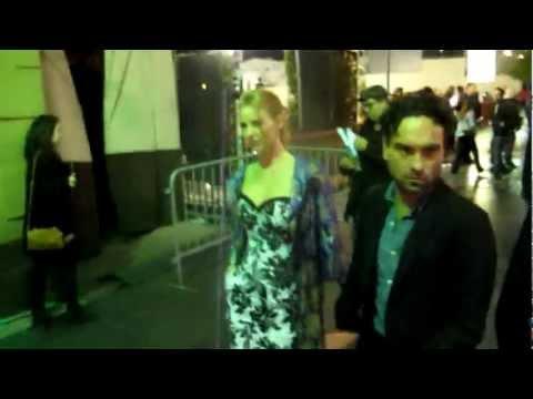 Johnny Galecki & Girlfriend Kelly Lynch Leaving Avalon In Hollywood, CA