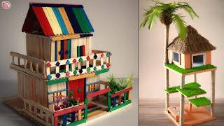 DIY Miniature House!!.. Modern & Traditional Model Design | Candy Stick