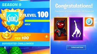 The NEW Level 100 Rewards in Season 9 Fortnite! (Fortnite Level 100 Secret Unlocks)