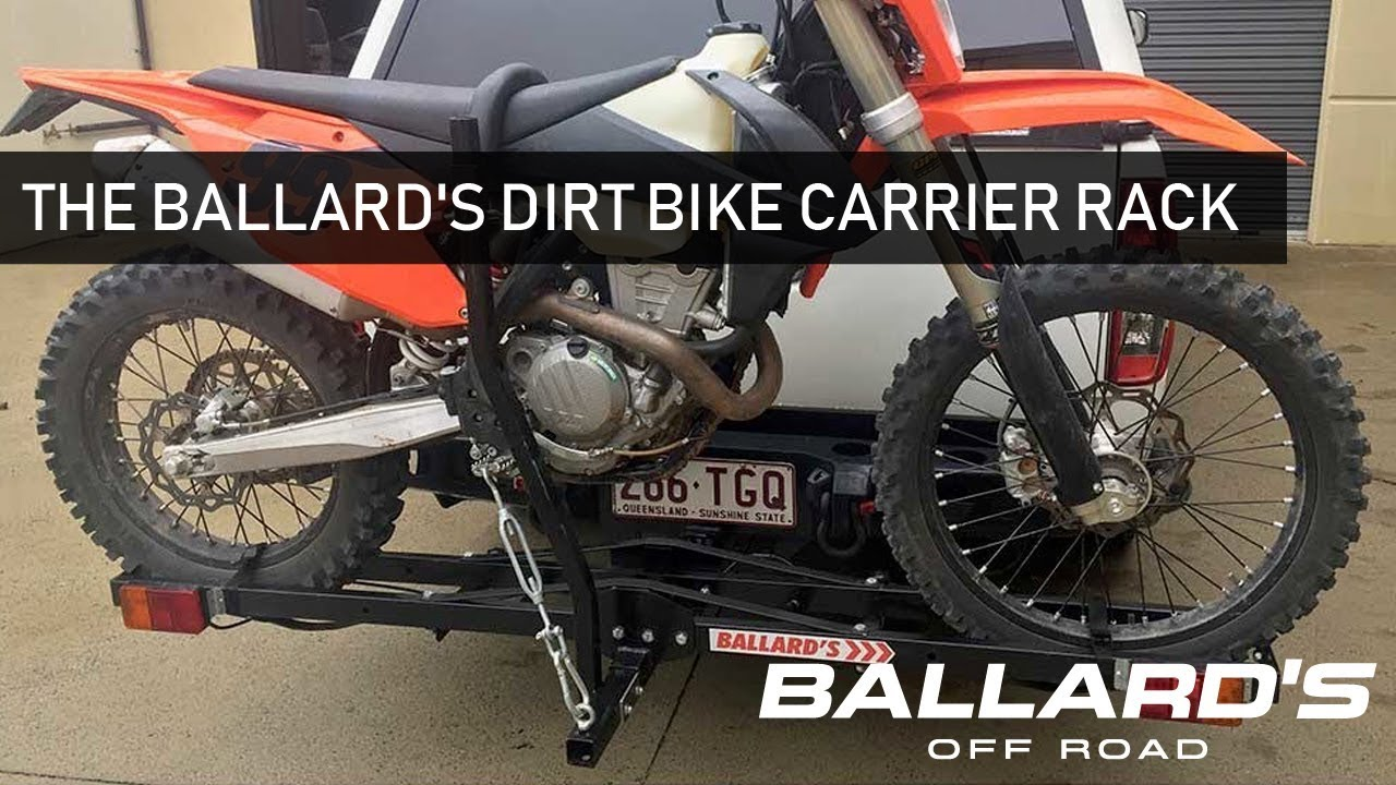 the ballard s dirt bike carrier rack with gb mxstore com au