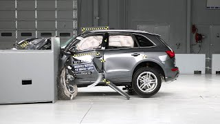 2015 Audi Q5 driver-side small overlap IIHS crash test