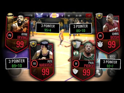 BEST 3 POINT SHOOTING LINEUP IN NBA LIVE MOBILE!! ALL 96+ 3 PT!!