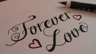 how to write in cursive fancy letters forever love