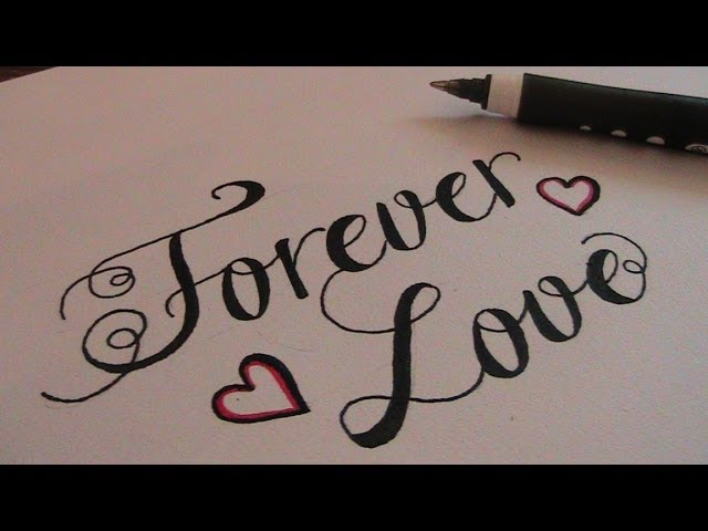 Love written in cursive gallery