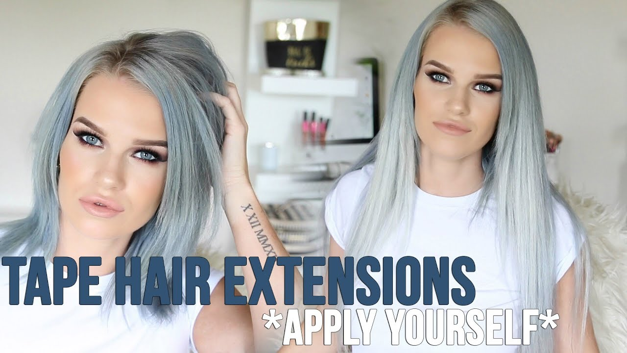 How To Apply Tape Hair Extensions Kirstie Roche Youtube