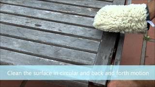 How To Clean Your Patio Furniture Easy, Fast, Environmentally Friendly With The Ha-ra Green Glove