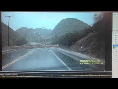 Flash flood in California