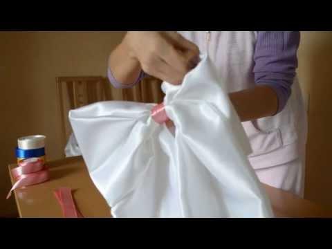Как сделать большой бант на платье
