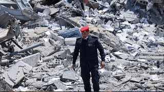 video: Watch: Gazan police offices destroyed and 300 unexploded rockets collected from 11 days of fighting