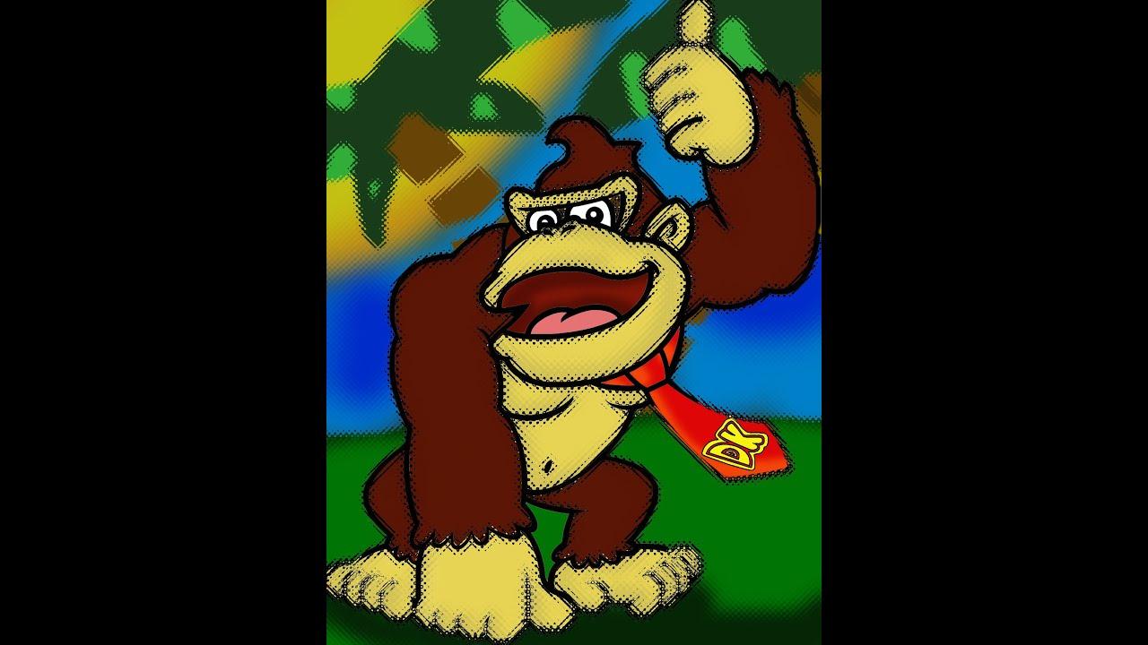 Donkey Kong Edition Speed Painting Donkey Kong Country Donkey Kong Hd Wallpaper Download
