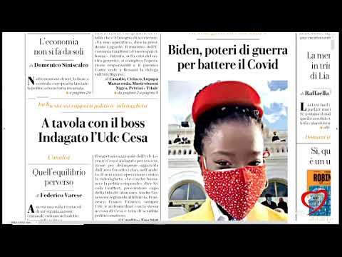 I giornali in edicola - la rassegna stampa 22/01/2021