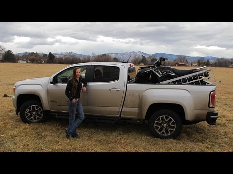 2015 GMC Canyon 1000 mile mountain review, hauling ATV