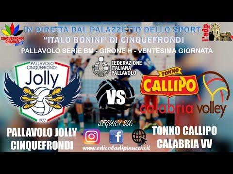 Pallavolo serie BM: Pallavolo Jolly Cinquefrondi VS Tonno Callipo Vibo Valentia