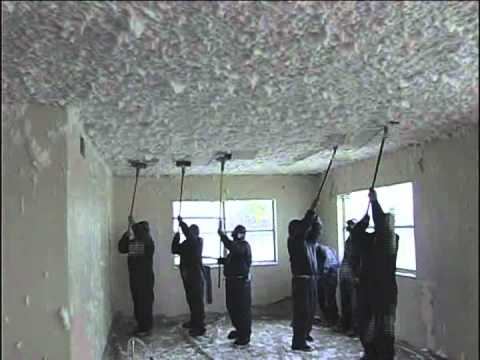 How to remove scrape your popcorn ceiling cleanly for Asbestos in drywall canada