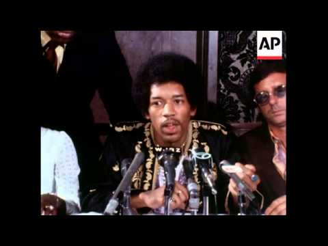 Jimi Hendrix News Conference - 1970