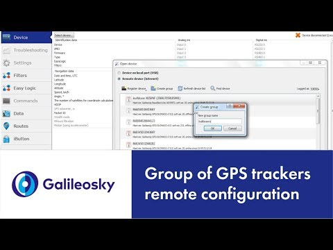 How to remotely configure a group of GPS trackers?