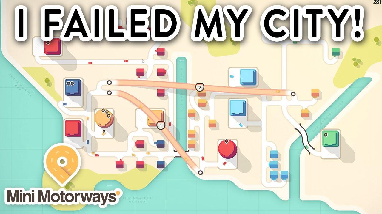 I Failed My City!!! - Mini Motorways