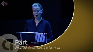 Ensemble gli angeli genève led by stephan macleod perform arvo pärt's 'stabat mater' during the utrecht early music festival 2019.the musicians:gli ge...