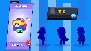 Opening x15 MEGA BOX on 0 Trophy Account - Brawl Stars