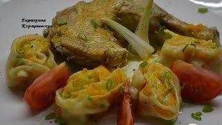 Штрули с курицей  Немецкая кухня(Штрули с курицей. Пошаговый рецепт с фото. Очень вкусное блюдо получается.Рецепт хорошо закрепился в нашей..., 2015-04-06T03:57:07.000Z)