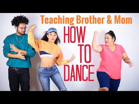 Teaching My Mom & Brother How to Dance! OMG | jasmeannnn