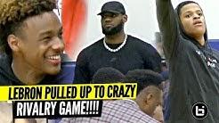 LeBron, & Bronny Watch Shaqir & Crossroads CRAZY RIVALRY GAME vs Brentwood!!
