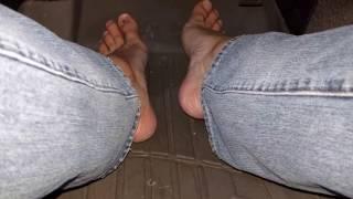 Driving Vid With Big Stinky Feet