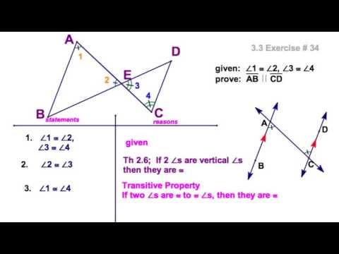 3.3 Proving parallel lines: 2 textbook proofs - YouTube