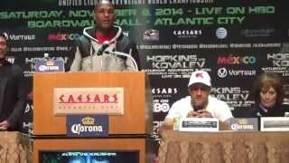 Bernard Hopkins vs Sergey Kovalev FINAL PRESS CONFERENCE