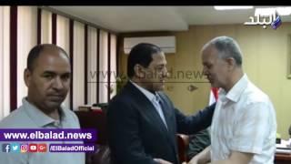 بالفيديو.. محافظ الغربية يستقبل نائب رئيس محكمة النقض
