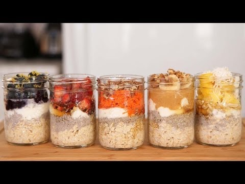 overnight-oatmeal---5-delicious-ways!