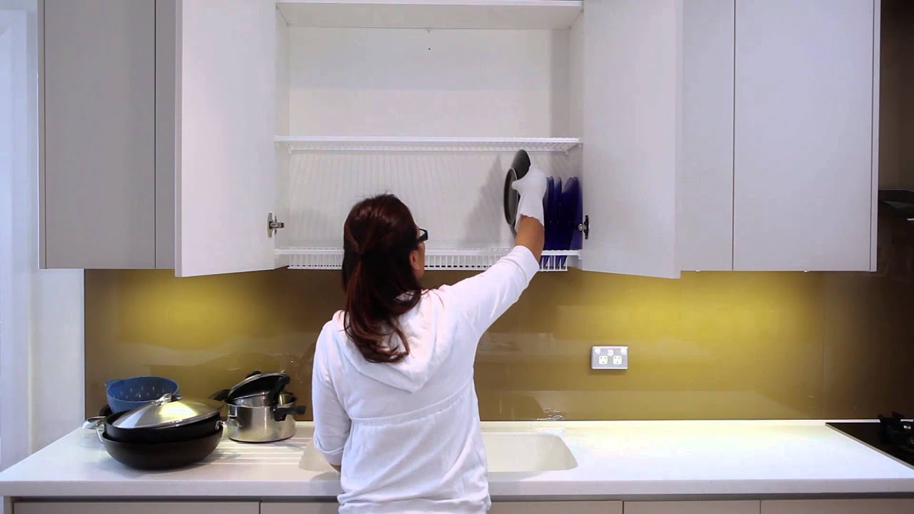 Tiskikaappi - Dish Rack In The Cabinet - YouTube