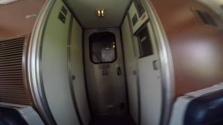 Amtrak Empire Builder walk through. Bedroom in the sleeper car to the observation car.