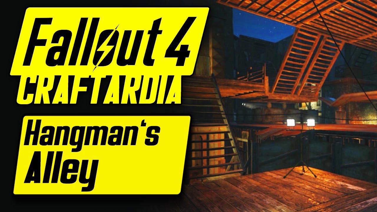 Fallout 4 Hangman's Alley Settlement - Base Building Timelapse - Fallout 4 Settlement Building [PC]