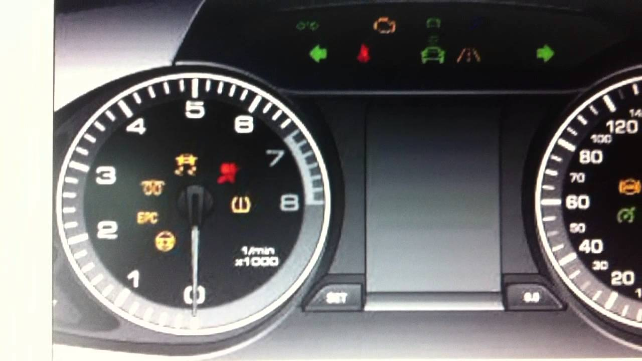 Audi A4 B8 Dashboard Lights & Warning Symbols