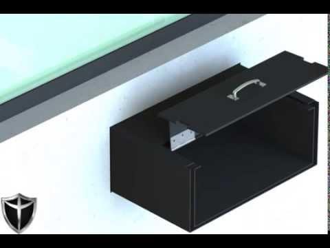 Passa-volume blindado modelo gaveta da Blindaço. Qualidade certificada e 5 anos de garantia.