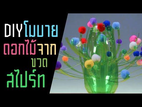 โมบายดอกไม้ จาก ขวดสไปร์ท   รู้หรือไม่ - DYK - วันที่ 10 Aug 2019
