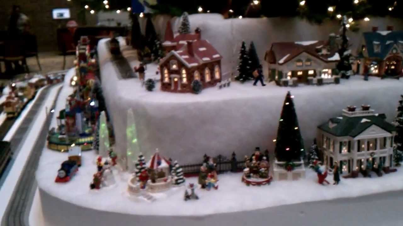amazing snow village christmas tree youtube