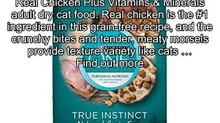 Purina One True Instinct Natural Grain-Free With Real Chicken Dry Cat Food - 6.3 Lb. Bag
