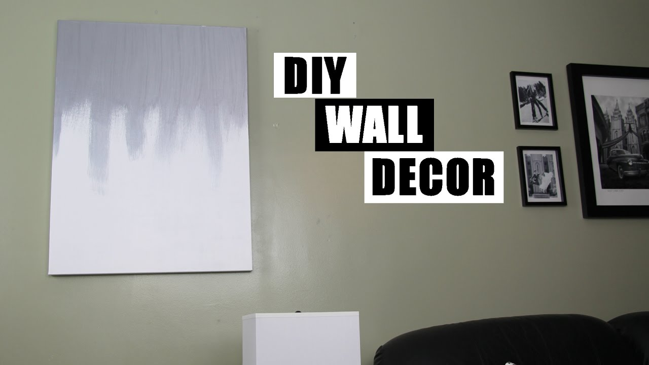 Dripping Paint Wall Design : Diy wall decor dripping paint