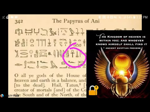 DECODING BOOK OF THE DEAD - Esoteric Heiroglyphs Mystery Teachings of Ancient Egypt