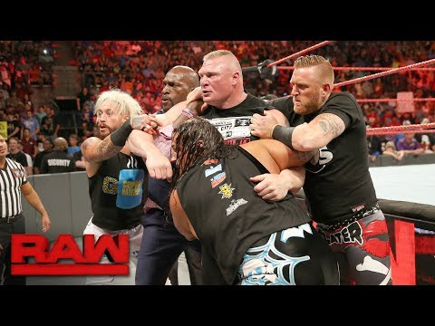 Thumbnail: Brock Lesnar brawls with Samoa Joe: Raw, June 12, 2017