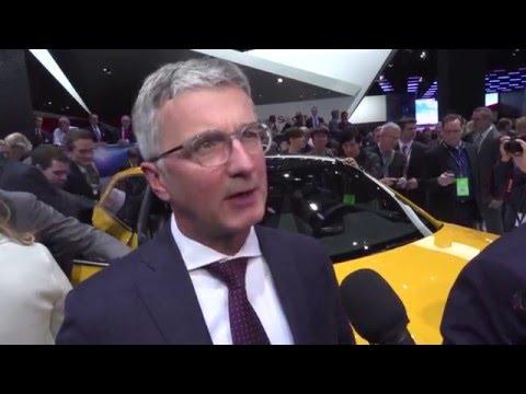 Interview Professor Rupert Stadler at 2016 NAIAS | AutoMotoTV
