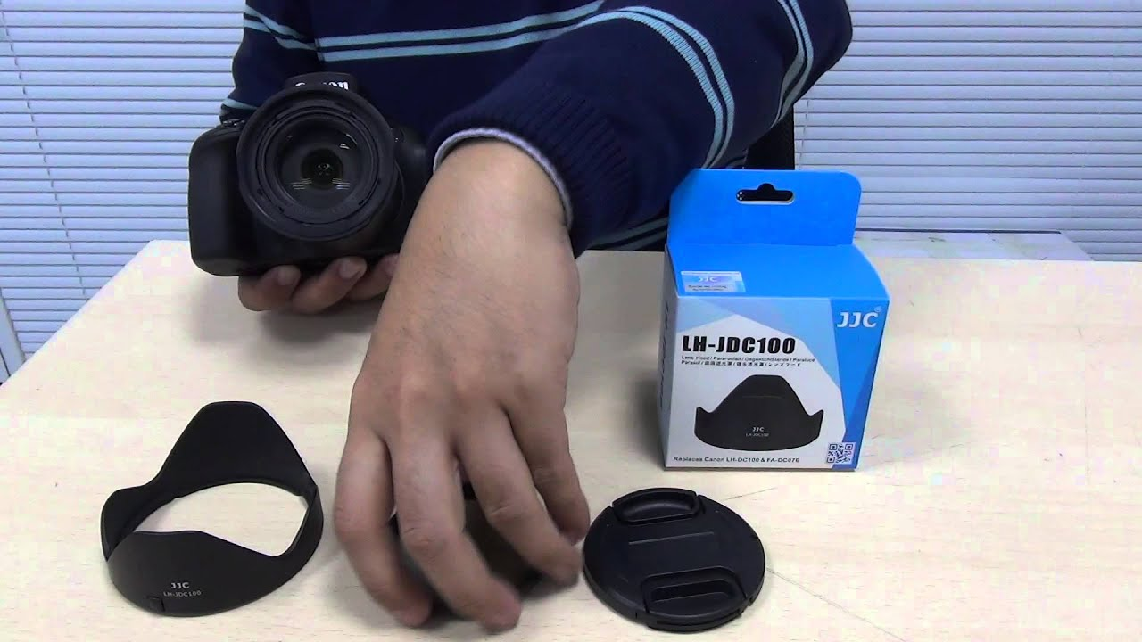 JJC LH-JDC100 with 67mm filter thread adapter on Canon Powershot G3 ... 4595e2385c