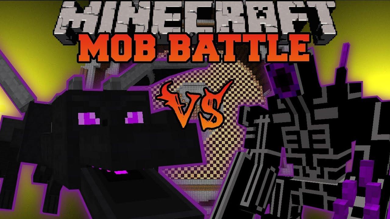 Ender Dragon Vs Robo Warrior Minecraft Mob Battles