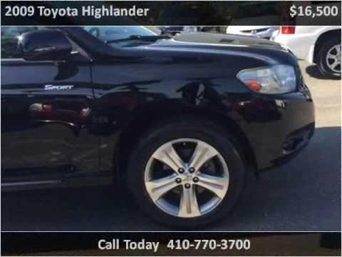 2009 Toyota Highlander Used Cars Easton Md