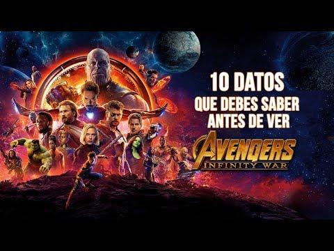 10 Datos que tienes que saber antes de ver 'Avengers: Infinity War'