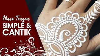 Henna Tatto Simple #5 (belajar melukis henna pemula)| whin henna